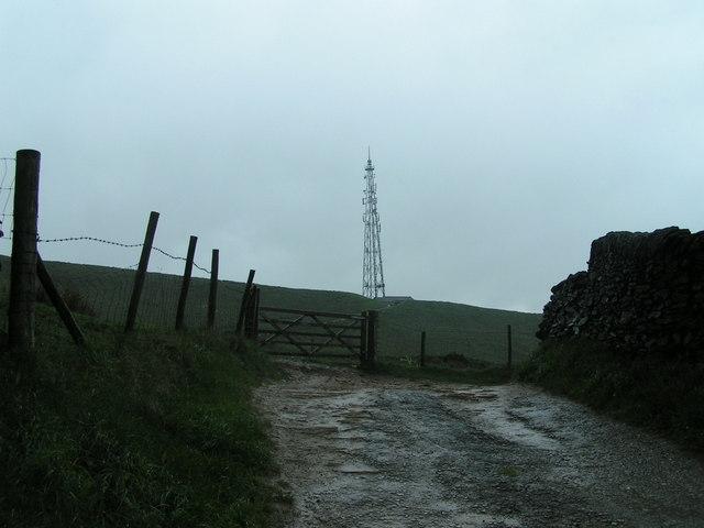 Birch Vale TV mast