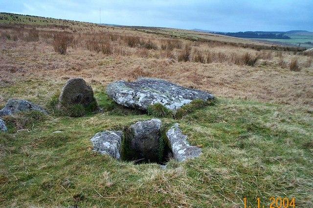 The Crock of Gold cist - Dartmoor