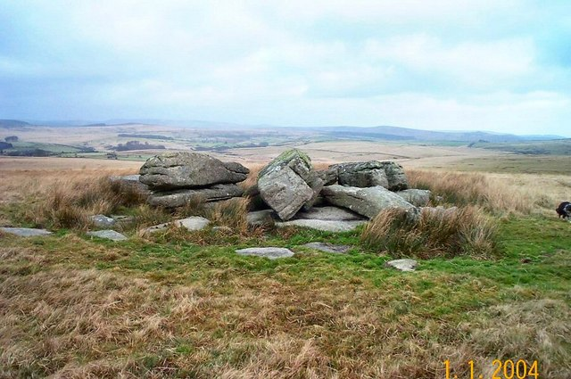The summit of Royal Hill - Dartmoor