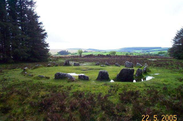 Soussons stone circle - Dartmoor