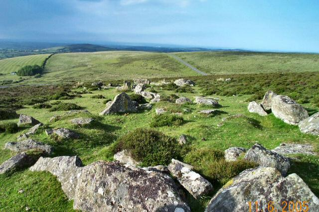 View from a Dartmoor hut circle