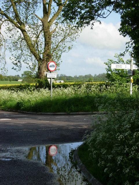 B5414 crossroads