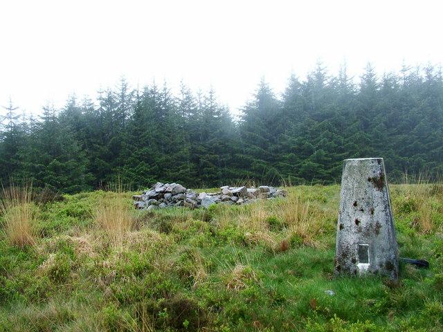 Mynydd March Hywel trig point