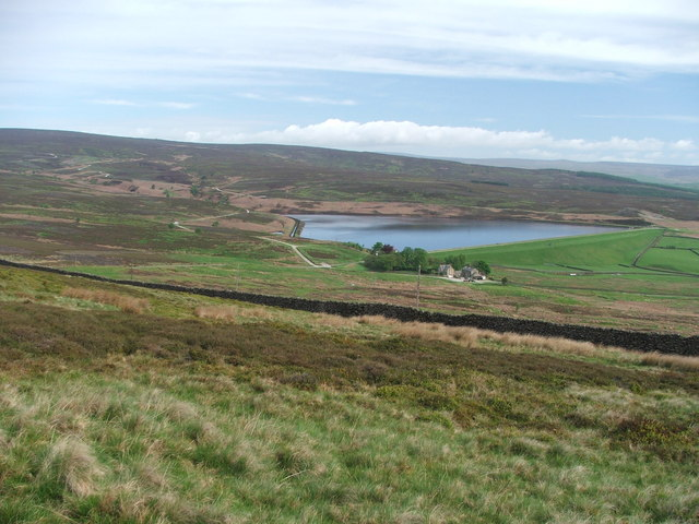 Lower Barden Reservoir and Barden Moor.