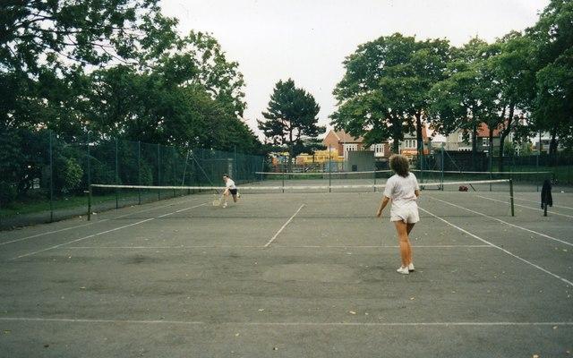 Tennis Courts, Barnes Park, Sunderland, September 1986.