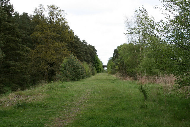 Disused railway line near Glamis