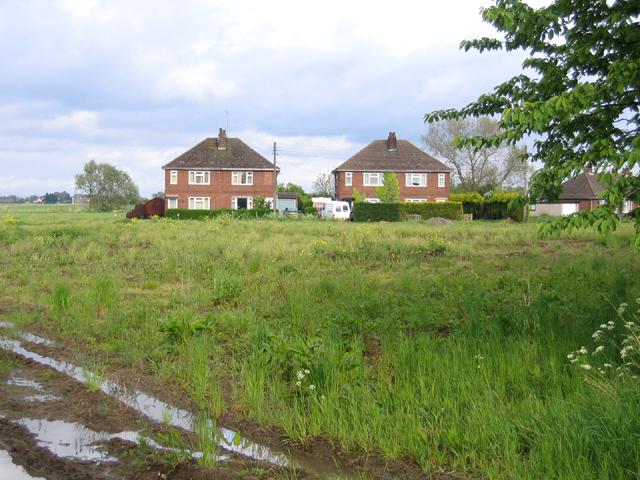 'Council houses' from Blow's Lane, Sutterton, Lincs
