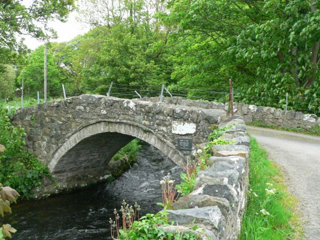 "The historic bridge known as ""Pont Y Cim,"" Pontllyfni, Gwynedd."