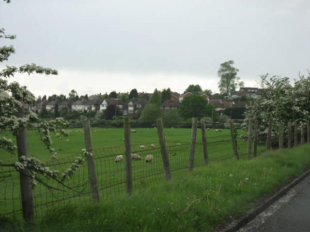 Looking across the fields to the Houses