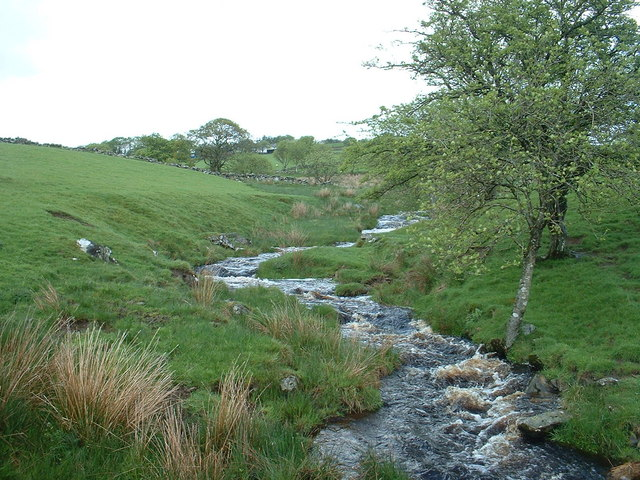 The Afon Nug, looking upstream