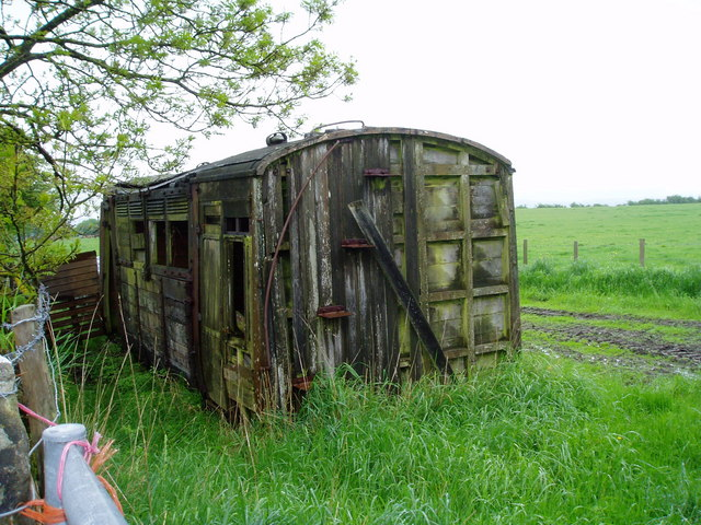 Disused railway carriage