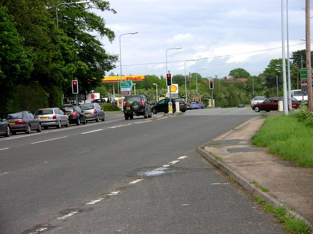 Crossroad - Chester Road and A49 near Tarporley