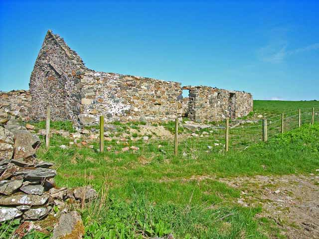 Ruined farm at Blackhill, near Glenluce