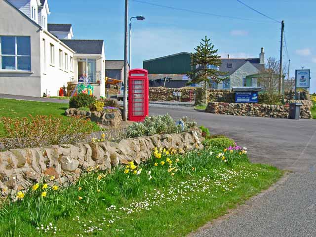 Entrance to Whitecairn Farm Caravan Park