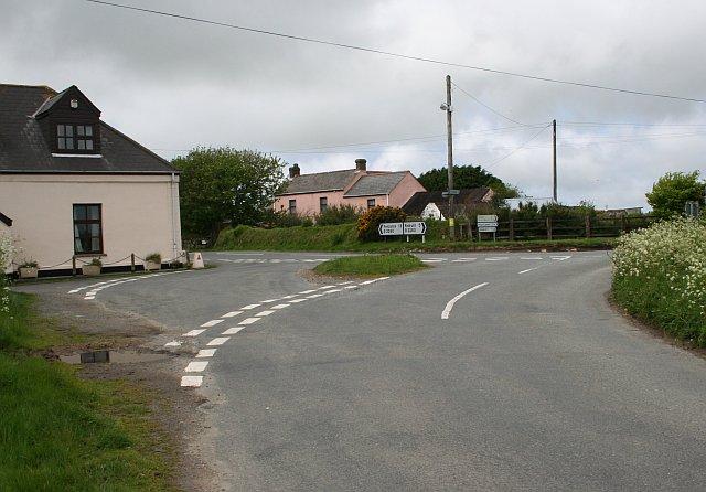 Road Junction near Blackrock Farm