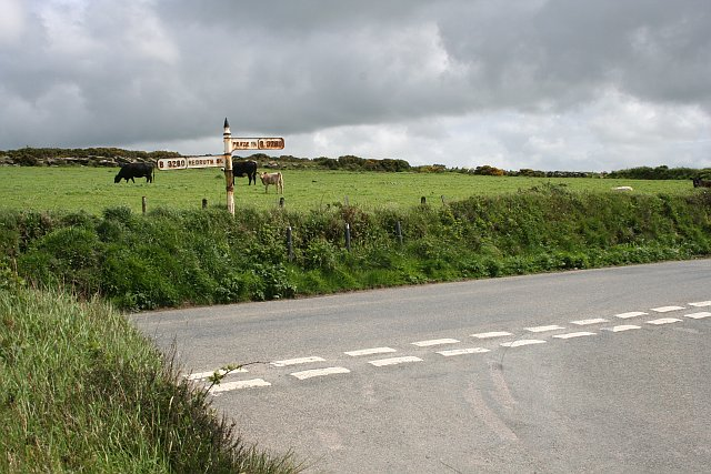 Road Junction and Crowan Beacon