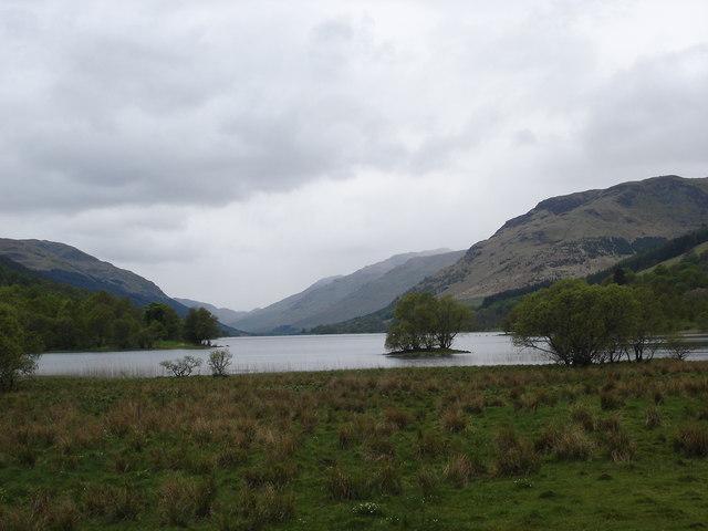 Loch Voil from bridge over River Balvag Balquhidder