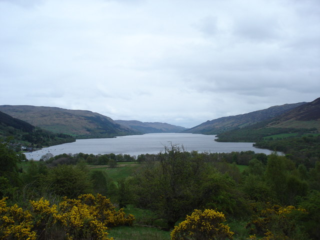 Looking east along Loch Earn from cycle route