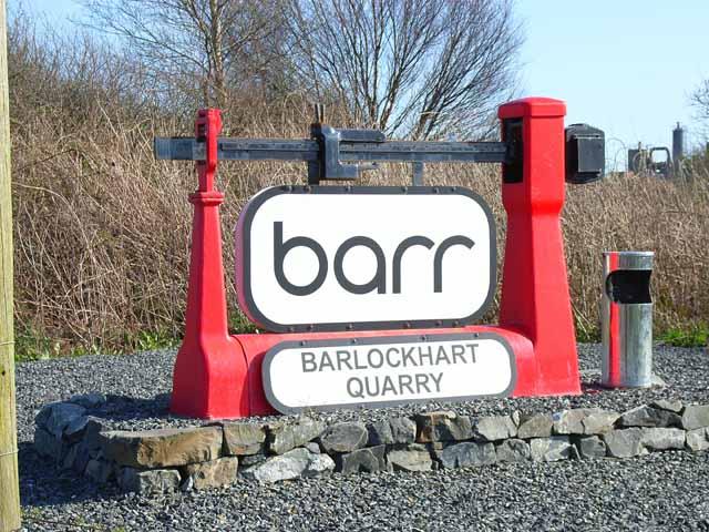 Sign at Barlockhart Quarry