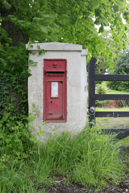 Victorian letterbox outside Flexford House, nr Sway