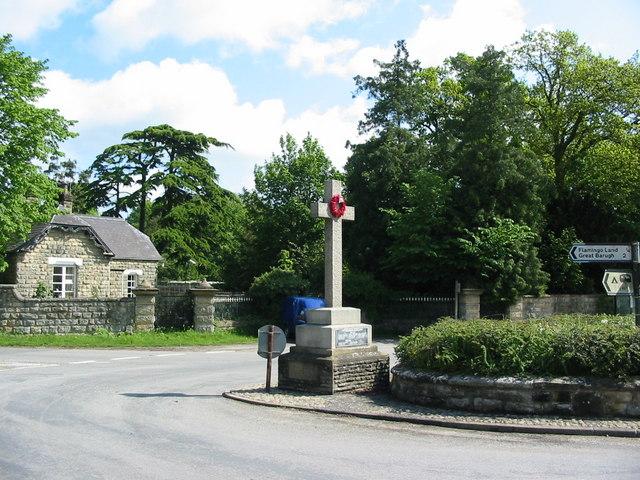 Cenotaph in Kirby Misperton village