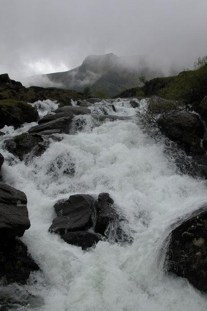 Waterfall near Idwal Cottage