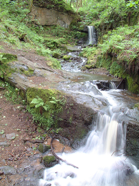 Waterfall at Fairy Glen, Appley Bridge