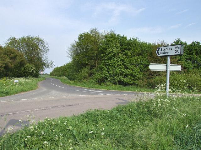 The road to Duloe and Staploe.