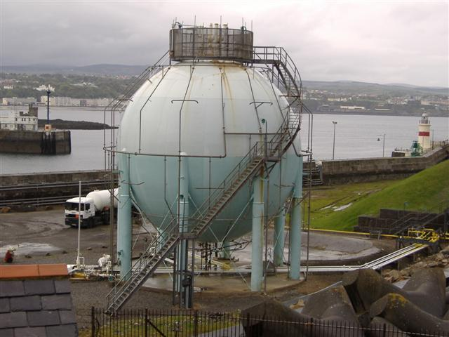 Gas container, Douglas, Isle of Man