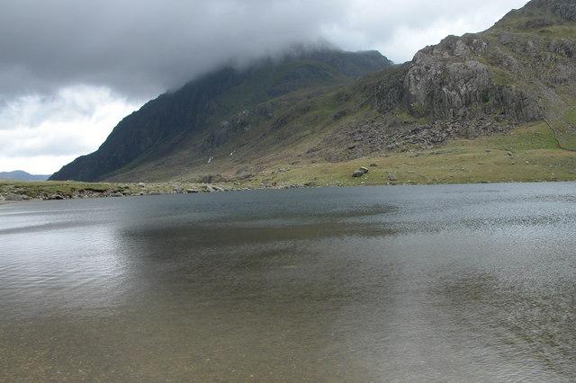 Tryfan viewed across Llyn Idwal