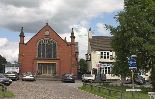 The church on St James Green in Thirsk