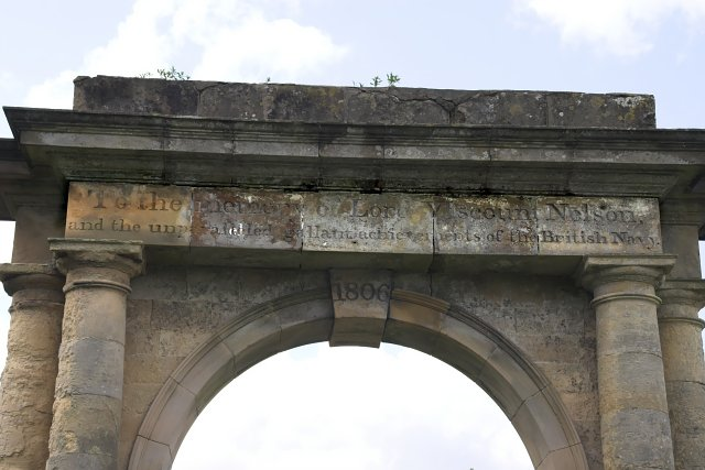 The inscription on Nelson's Gate