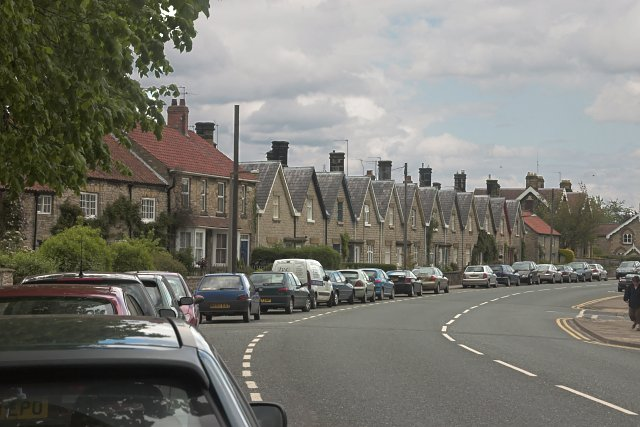Houses by the A170 in Helmsley