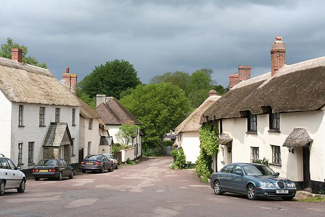 Broadhembury: the village street