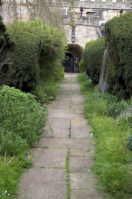 Church path at Kirkbymoorside