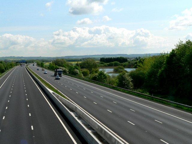 M62 from the Sandholme Landing to Newport Road Bridge
