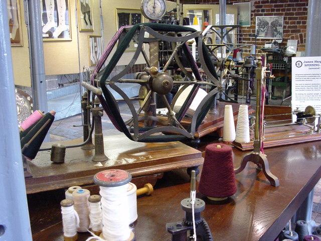 Hank winder in Belper North Mill Museum