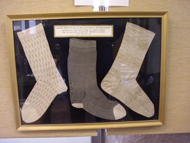 Hosiery exhibits in North Mill Museum