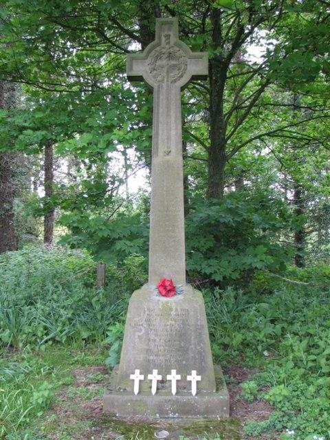 Memorial cross to men from the parish for 1914-1918 war