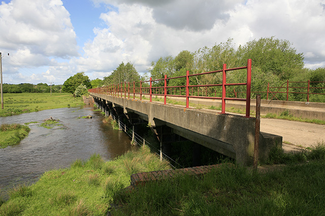 Bridge carrying Castleman Trailway over River Avon mill stream
