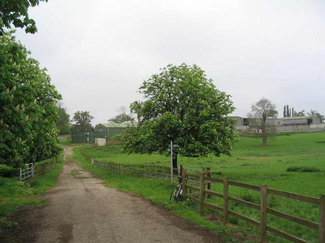 Stocken Hall Farm from the S. edge of Morkery Wood