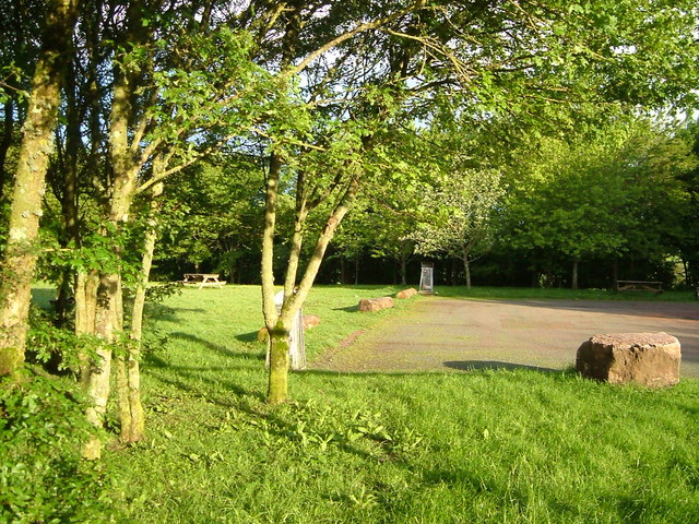 Picnic area and car park by A30 at Honiton