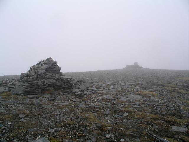 Summit cairn and trig point, Toll Creagach