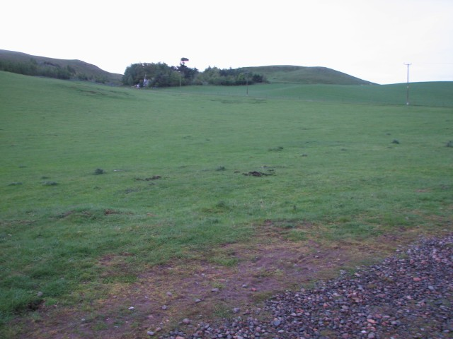 Grassy field below Sandy Hill
