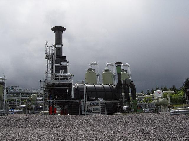 Natural gas facility, hidden in Weston Common, near Alton