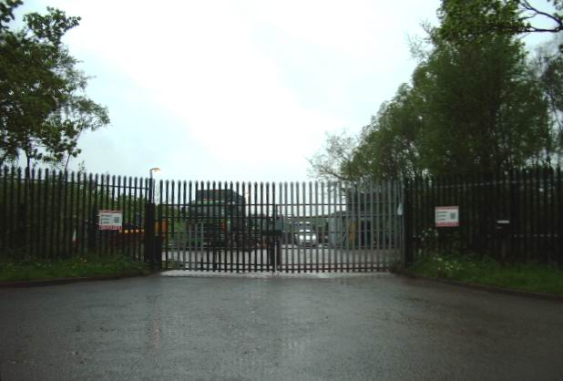 Entrance to Thackwood Waste Disposal Centre