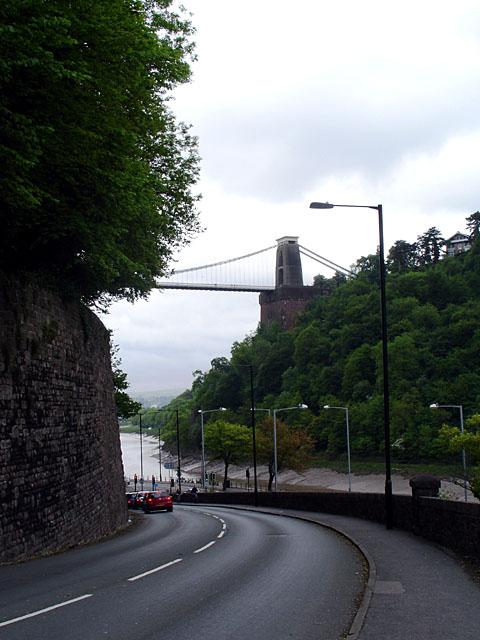 Looking down Bridge Valley Road