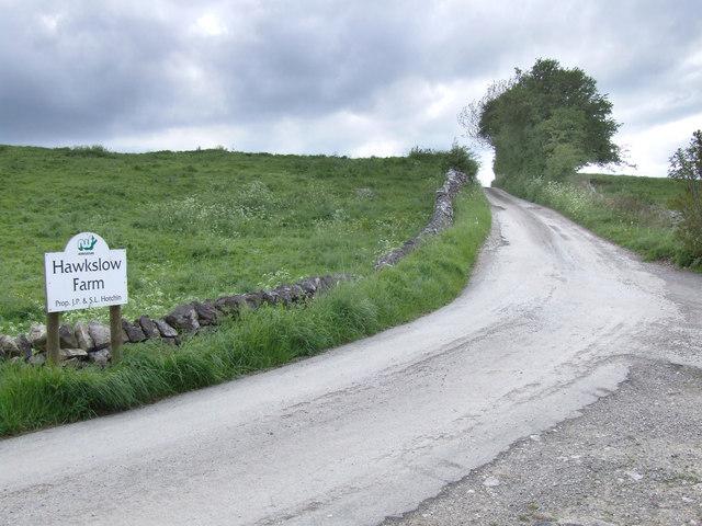 Hawkslow Farm road.