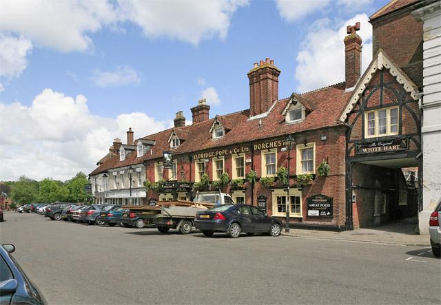 The Original White Hart pub,  Market Place, Ringwood