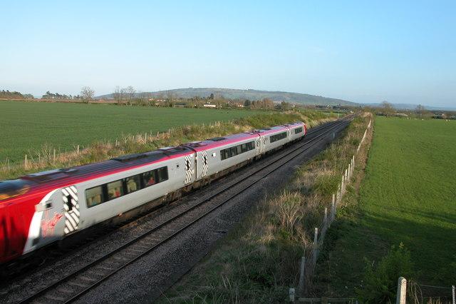 Virgin train on the Worcester to Bristol line
